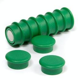 Office magnets 'Boston Xtra Mini' round noticeboard magnets neodymium, Ø 20 mm, set of 10, green