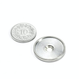MSD-21 Metal disc with an edge and counterbore M3, Inner diameter 21 mm, as a counterpart to magnets, not a magnet!