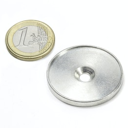MSD-33 Metal disc with an edge and counterbore M4, Inner diameter 33 mm, as a counterpart to magnets, not a magnet!
