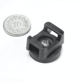 CMN-22 potmagneet met rubber coating, voor kabelmontage, Ø 22 mm