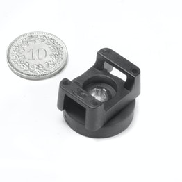 CMN-22 magnetische kabelhouder, houdt ca. 3.9 kg, potmagneet met rubber coating voor kabelbinders, Ø 22 mm