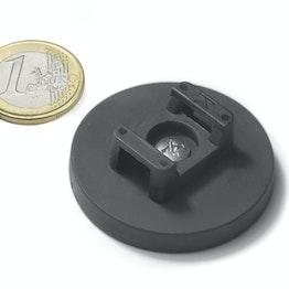 CMN-43 potmagneet met rubber coating, voor kabelmontage, Ø 43 mm