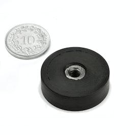 ITNG-25 potmagneet met rubber coating, met inwendig schroefdraad M5, Ø 29 mm