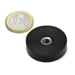 ITNG-32 magnete gommato con base in acciaio con filettatura interna Ø 36 mm, filettatura M6