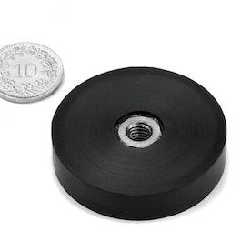 ITNG-40 potmagneet met rubber coating, met inwendig schroefdraad M6, Ø 45 mm