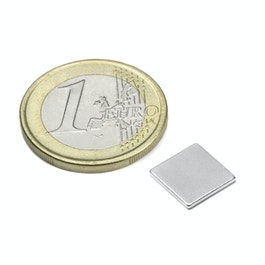 Q-10-10-01-N Bloque magnético 10 x 10 x 1 mm, neodimio, N42, niquelado