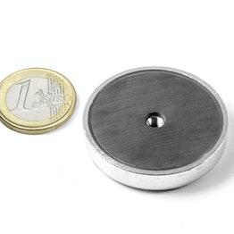ITF-40 Ferrite pot magnet with internal thread M4, Ø 40 mm