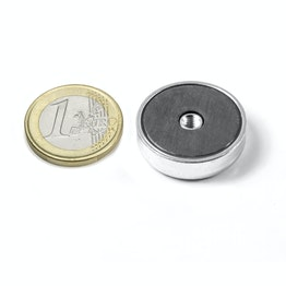 ITF-25 Ferrite pot magnet with internal thread M4, Ø 25 mm