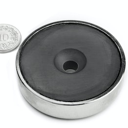 CSF-60 Ferrite pot magnet, with counterbore, Ø 60 mm