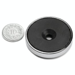 CSF-40 Ferrite pot magnet, with counterbore, Ø 40 mm