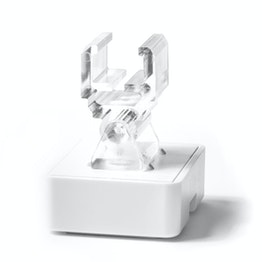 Leistenmagnet mit Halterung für Plakatrahmen Ferrit-Magnetsystem im Kunststoffgehäuse, mit verstellbarem Adapter, 180° Schwenkwinkel