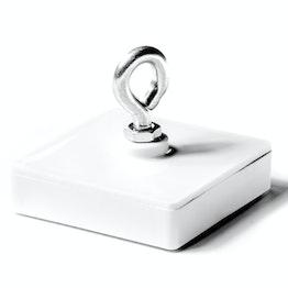 Leistenmagnet mit Öse Ferrit-Magnetsystem im Kunststoffgehäuse, quadratisch, 58 x 58 mm