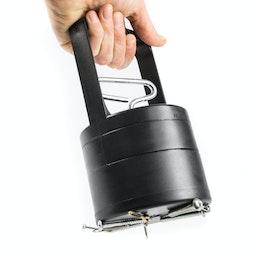 Magnetische inzamelhulp met loslaat-mechanisme, 100 mm doorsnede, houdkracht ca. 2,2 kg