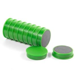 Magneti per lavagna in ferrite plastificato, set da 10, verde