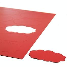 Nubes magnéticas para pizarras blancas y de planificación, 10 símbolos por hoja A4, rojo