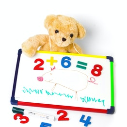 Children's whiteboard 24 x 35 cm surface for magnets, for drawing, playing, writing & learning, single-sided use