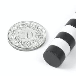 S-10-05-E Scheibenmagnet Ø 10 mm, Höhe 5 mm, hält ca. 2 kg, Neodym, N42, Epoxidharz-beschichtet