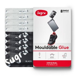 Sugru 8er-Pack formbarer Kleber, 4x schwarz, 4x weiß, Packungen zu je 5 g