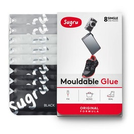 Sugru pacco da 8 colla modellabile, 3x nero, 3x bianco, 2x grigio, confezioni da 5 g ciascuna