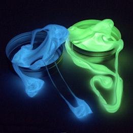 Intelligente Knete Glow leuchtet im Dunkeln, verschiedene Farben, nicht magnetisch!