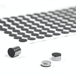 Silicone discs Ø 10 mm self-adhesive, 136 per set