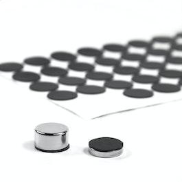 Dischi di silicone Ø 15 mm autoadesivi, 60 pezzi per set