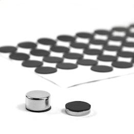 Discos de goma adhesivos Ø 15 mm para proteger superficies, 60 unidades por set