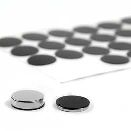 Silicone discs Ø 20 mm self-adhesive, 36 per set