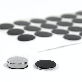 Rubber schijfjes zelfklevend Ø 20 mm ter bescherming van oppervlakken, 36 stuks per set