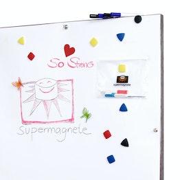 Foglio per lavagna bianca ferromagnetico supporto per magneti, rotolo 1 x 5 m