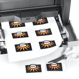 Magnetpapier glänzend ideal für Fotomagnete, bedruckbar mit Tintenstrahldrucker, 10er-Set im A4-Format