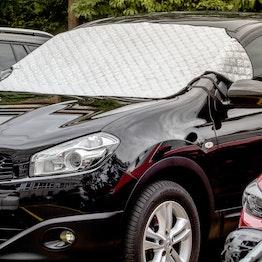 Bâche pare-brise 2 en 1 protection solaire & anti-gel 2 en 1, avec fixation magnétique sur la voiture