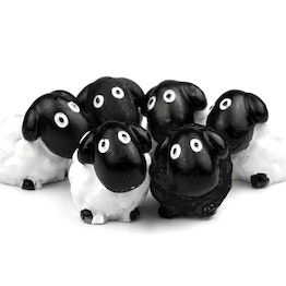 Sheep magnets fridge magnets shaped as sheep, set of 6