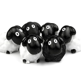 Sheep deco magnets shaped as sheeps, set of 6