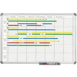 Planbord 90 x 60 cm hechtondergrond voor magneten, om met bordmarkers te beschrijven, universele planner