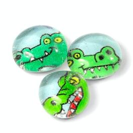 Ufertiere handgemachte Kühlschrankmagnete, 3er-Set, Krokodil