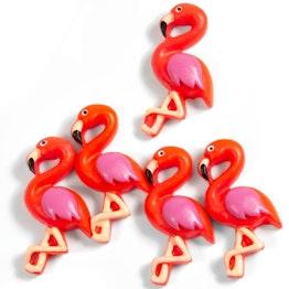 Aimants flamants roses aimants pour frigo en forme de flamants roses, lot de 5