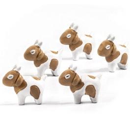 Goats fridge magnets in goat shape, set of 5