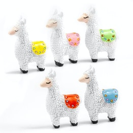 Llama fridge magnets in llama shape, set of 5