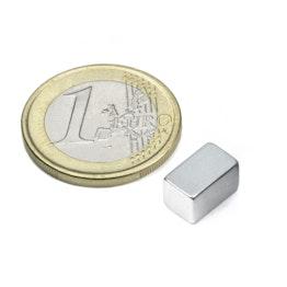 Q-10-06-06-Z Bloque magnético 10 x 6 x 6 mm, neodimio, N45, galvanizado