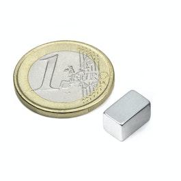 Q-10-06-06-Z Block magnet 10 x 6 x 6 mm, neodymium, N45, zinc-plated