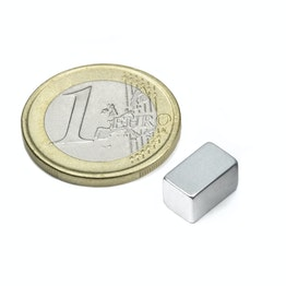 Q-10-06-06-Z Bloque magnético 10 x 6 x 6 mm, sujeta aprox. 2,1 kg, neodimio, N45, galvanizado