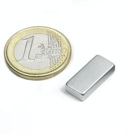 Q-18-08-04-Z Block magnet 18 x 8 x 4 mm, neodymium, N45, zinc-plated