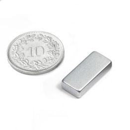 Q-18-08-04-Z Parallelepipedo magnetico 18 x 8 x 4 mm, neodimio, N45, zincato