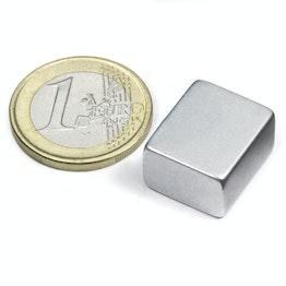 Q-18-15-10-Z Parallelepipedo magnetico 18 x 15 x 10 mm, neodimio, N45, zincato