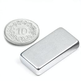 Q-30-15-06-Z Parallelepipedo magnetico 30 x 15 x 6 mm, neodimio, 42SH, zincato
