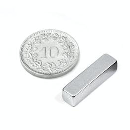 Q-20-05-05-Z Blokmagneet 20 x 5 x 5 mm, neodymium, N42, verzinkt