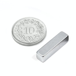 Q-20-05-05-Z Parallelepipedo magnetico 20 x 5 x 5 mm, neodimio, N42, zincato