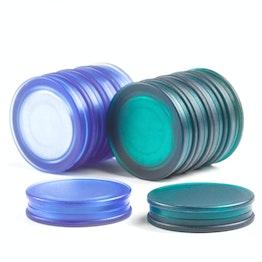 Magneti per lavagna rotondi tiene ca. 1,5 kg, magneti al neodimio con cappuccio in plastica, magnetici su entrambi i lati, Ø 25 mm, in diversi colori