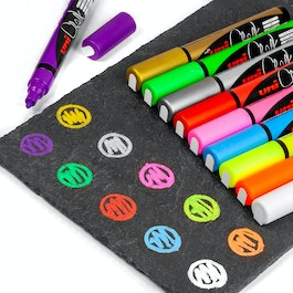 Chalk Marker for magnetic glass boards and whiteboards, in different colours, set of 4
